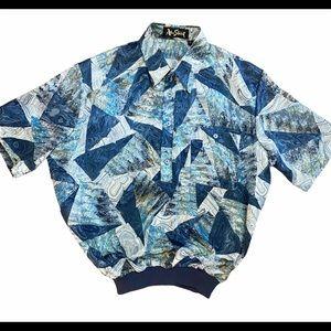 Vintage Alan Stuart Artsy Short Sleeve Pullover L
